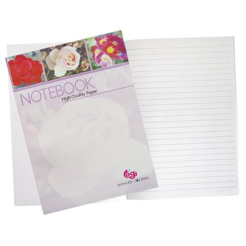 20張橫格筆記本(台製)(圖案:花)