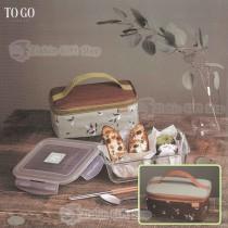 森沐玻璃分隔保鮮盒提袋組