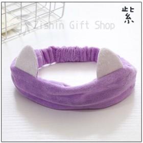 洗臉髮帶-紫色