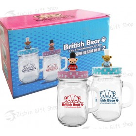 英國熊造型玻璃瓶(2入)
