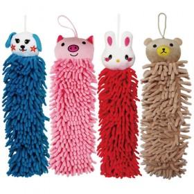 雪尼爾動物擦手巾