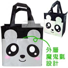熊貓拉鍊便當袋